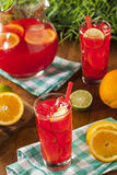 Refreshing Cold Fruit Punch Stock Photo