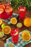 Refreshing Cold Fruit Punch. With Berries and Oranges Royalty Free Stock Photography