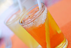 Refreshing Cold Juice Drinks Stock Photo