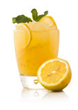 Refreshing cold lemon Cocktail Stock Photo