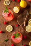 Refreshing Cold Raspberry Lemonade Royalty Free Stock Photos