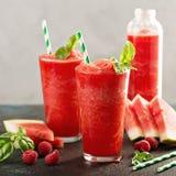 Refreshing cold summer drink watermelon slushie royalty free stock photo