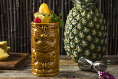 Refreshing Cold Tiki Drink Cocktails Stock Images