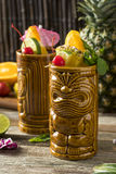 Refreshing Cold Tiki Drink Cocktails Royalty Free Stock Photo