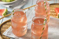 Refreshing Cold Watermelon Juice Stock Photo