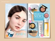 Refreshing cosmetic brochure design Royalty Free Stock Photography