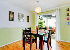 Refreshing dining room interior in mint color Stock Photo