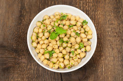 Refreshing dish with chickpeas and mint Stock Photo