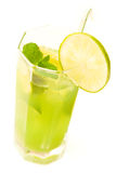 Refreshing drink. Cold and refreshing drink with mint and lime Stock Photos