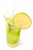 Refreshing drink. Cold and refreshing drink woth lime and mint Stock Image