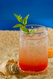 Refreshing drink on the beach Stock Image