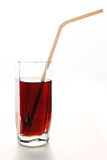Refreshing drink in a glass with straw for cocktails Royalty Free Stock Image