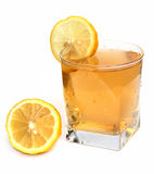 Refreshing drink with lemon Royalty Free Stock Photos