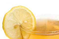 Refreshing drink with lemon Stock Photos