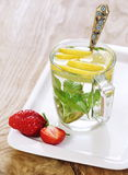 Refreshing drink with lemon and mint Royalty Free Stock Photo
