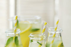 Refreshing drink. Lemonade. Refreshing drink on the table Stock Photo