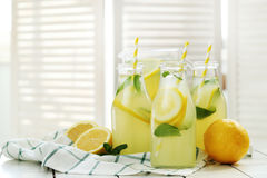 Refreshing drink. Lemonade. Refreshing drink on the table Royalty Free Stock Image