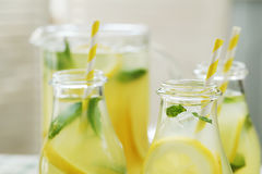 Refreshing drink. Lemonade. Refreshing drink on the table Royalty Free Stock Photos