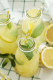 Refreshing drink. Lemonade. Refreshing drink on the table Royalty Free Stock Photography