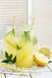 Refreshing drink. Lemonade. Refreshing drink on the table Royalty Free Stock Images