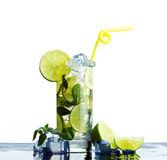 Refreshing  drink  lime Royalty Free Stock Image