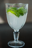 Refreshing drink with mint and lime Stock Photography
