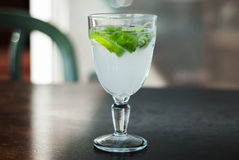 Refreshing drink with mint and lime Stock Photo