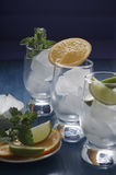 Refreshing drinks with ice. Refreshing drinks in a glass Stock Photography