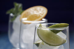 Refreshing drinks with ice. Refreshing drinks in a glass Royalty Free Stock Photography