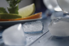 Refreshing drinks with ice. Refreshing drinks in a glass Stock Images