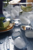 Refreshing drinks with ice Stock Images