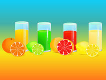 Refreshing drinks Royalty Free Stock Photography