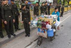 Refreshing drinks street seller in Bangkok Royalty Free Stock Image