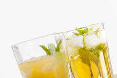Refreshing drinks on white background Royalty Free Stock Image