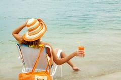 Refreshing female Royalty Free Stock Images