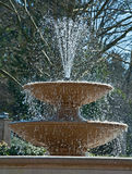Refreshing Fountain of Water in Sunshine Royalty Free Stock Images