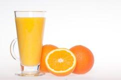 Refreshing fresh home made orange juice drink Stock Photos