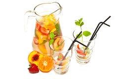 Refreshing fruit cocktail Royalty Free Stock Images