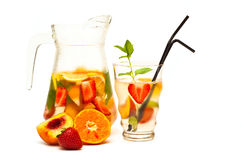 Refreshing fruit cocktail stock photography