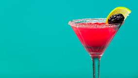 Refreshing fruit cocktail with ice, studio shot Royalty Free Stock Photography