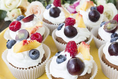 Refreshing Fruit Cupcakes Royalty Free Stock Photo