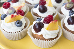 Refreshing Fruit Cupcakes Stock Images