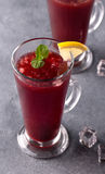 Refreshing fruit punch beverage in glass Stock Photography