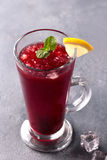 Refreshing fruit punch beverage in glass Royalty Free Stock Photo
