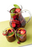 Refreshing fruit sangria Stock Photography