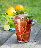 Refreshing fruit sangria (punch) Stock Photo
