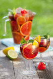 Refreshing fruit sangria (punch) Royalty Free Stock Photography