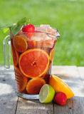 Refreshing fruit sangria (punch) Stock Images