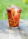 Refreshing fruit sangria (punch) Royalty Free Stock Image