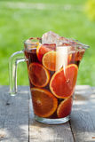 Refreshing fruit sangria (punch) Royalty Free Stock Photos